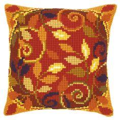 Autumn Leaves II Cushion Front Chunky Cross Stitch Kit   sewandso