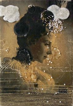 Embroidery on vintage photographs by Hinke Schreuder #mixed #media