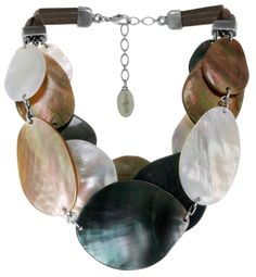 Nature Bijoux - melissa - Necklace - Black Lip, Brown Lip, Mother Of Pearl