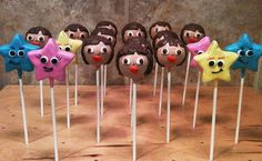 Dora cake pops. Dora and her explorer stars.