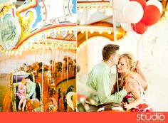 I want to do engagement pictures on a carousel...take some in a special place from my and his childhoods.