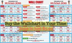 Printable FIFA World Cup 2018 Wallchart PDF Download - FIFA World Cup 2018. To keep track on the complete schedule, download wallchart as pdf and save as image.