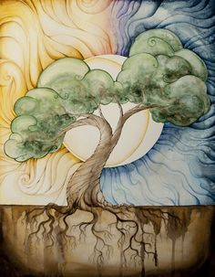 Tree of Life -- Would love to do this in a stained glass pattern.