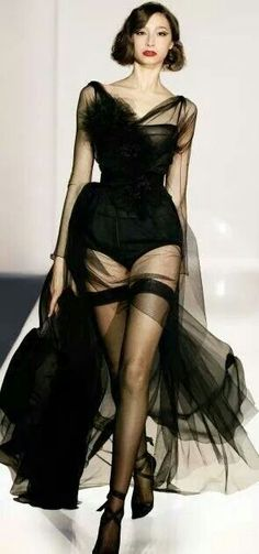 Black Silk Gown