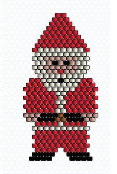 peyote or brick-stitch Santa