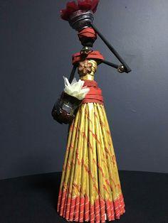 Arap kızı African Dolls, African American Dolls, African Art, Paper Dolls, Art Dolls, African Crafts, Paper Mache Sculpture, Creative Crafts, Diy Crafts