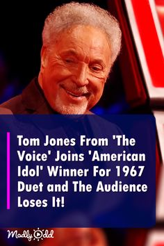Tom Jones From 'The Voice' Joins 'American Idol' Winner For 1967 Duet and The Audience Loses It! Talent Show, America's Got Talent, American Idol, Tom Jones Songs, Live Music, Good Music, Keith Urban Songs, Music Songs, Music Videos