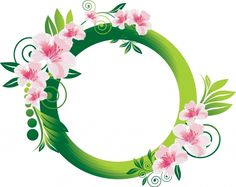 FLOWERS / Free vector Vector flower Beautiful Flowers Frame
