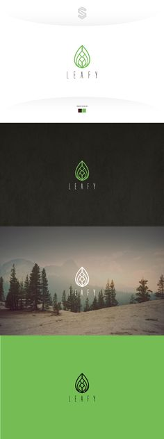 Simple elegant luxury logo outline leaf with a diamond form.                                                                                                                                                                                 More