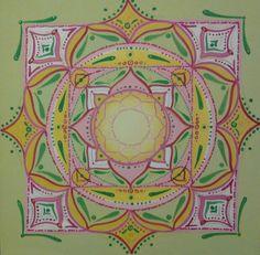 Mandala by Maryrose Fere' acrilico su tela 36x36