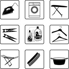 laundry silhouette - Google Search