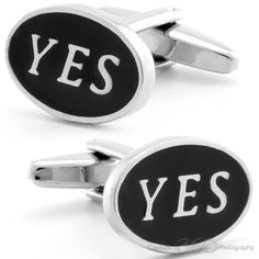 Yes! Cufflinks by Cufflinksman  #Cufflinks #Fashion #Jewelry #shopping