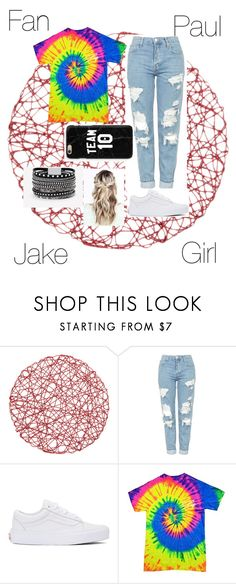 """""""Jake Paul Fan Girl"""" by beautygurue ❤ liked on Polyvore featuring Topshop, Vans and White House Black Market"""