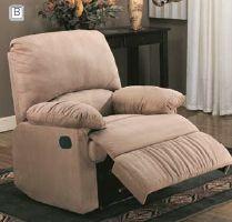 Recliner (Light Brown) $250 COMFORT HOME   Brown recliner