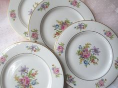 Vintage Jackson China Featherweight Pink Floral by thechinagirl