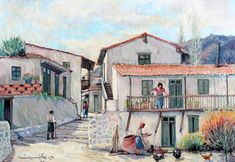 Greek Art, Greece, Paintings, Drawing, Artist, Hair, Beauty, Paint, Greece Country