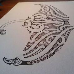 Polynesian Art, Polynesian Tattoo Designs, Maori Tattoo Designs, Drawing Sketches, Drawings, Drawing Ideas, Stingray Tattoo, Maori Symbols, Tribal Tattoos