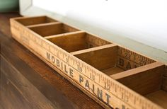 storage box made from vintage rulers.