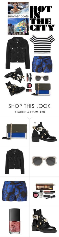 """Walk This Way: Summer Booties"" by shortyluv718 ❤ liked on Polyvore featuring DKNY, Balenciaga, Ace, Milly, Bobbi Brown Cosmetics, NARS Cosmetics and summerbooties"