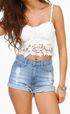 Lace bustier cute look that I really want to be able to pull off at some point. Good motivation to keep trying to lose weight and get in shape!