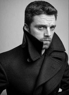 Sebastian photographed by Gavin Bond for L'Officiel Russia. Sebastian Stan, Close Up, Hottest Male Celebrities, Celebs, Dc Movies, Raining Men, Meme Lord, Bucky Barnes, Winter Soldier