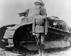 Col. George Patton with one of his 1st Tank Brigade FT17s in France in 1918. Author Harry Yeide explains the importance of tanks in WWI in Fighting Patton.