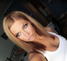 Pretty golden brown This is my fall hair color then I go darker for the winter and then well its back to blonde in the summer