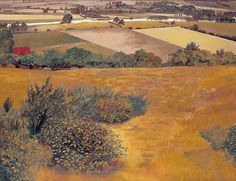Stanley Spencer (British, 1891–1959)  A View of the Thames from Cockmarsh Hill, Cookham, 1935. Oil on canvas, 28 x 36 in (71.1 x 91.4 cm). Offer Waterman, London, UK.