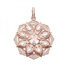 Thomas Sabo Lotus Rose Quartz Pendant