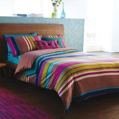 Harlequin Bali Bed Linen Set Quality Multi Coloured Stripe Bedding At Bedeckhome