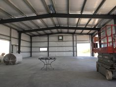 Steel Garages and Shops Shop Buildings, Metal Buildings, Metal Shop Building, Building A House, Metal Workshop, Steel Garage, Garage Kits, Natural Interior, Studio Design