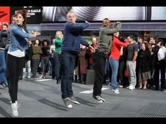 Official West Side Story 50th Anniversary Times Square Flash Mob in HD! To celebrate the golden anniversary of the Academy Award winning film, DanceOn put together a flash mob featuring 50 New York City Dancers.