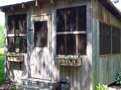 screenhouse... a repurposed corn crib