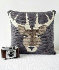 Crochet Pillow ❥ 4U hilariafina  http://www.pinterest.com/hilariafina/