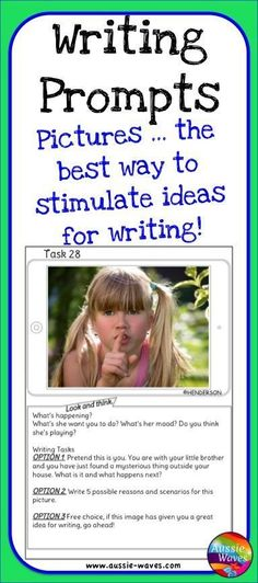 Writing Prompts encourage children to write by offering ideas, inspiration and free choice too!