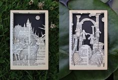 Harry Potter: Hand-Cut Silhouette Scenes- Created by Jack TuckwellThese custom scenes are individually handmade and framed from select pages from the Harry Potter series; a fantastic gift for any fan. Available for sale now, individually or as a set, only at theAlarm Eighteen Etsy Shop. You can see more hand-cut silhouettes by Jackhere.