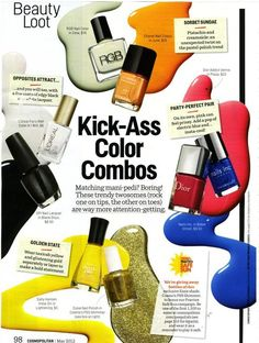 No more matchy-matchy mani-pedis! Go for color combos! Gel Manicure Nails, Mani Pedi, Nail Color Combinations, Paris Nails, Chanel Nails, What Makes You Beautiful, Dior Addict, Acrylic Gel, Loreal Paris