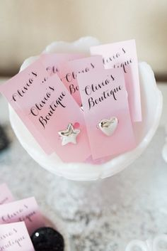 #Rings from an Elegant Minnie Mouse Boutique Birthday Party #minnie_mouse_party