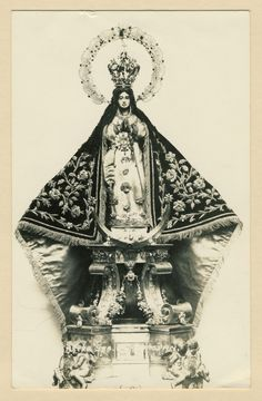 Estampa antigua de Nuestra Señora de la Expectación de Zapopan, venerada en su basílica de la homónima ciudad, México.