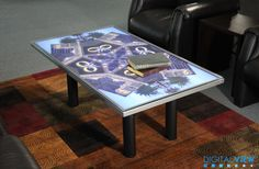 Digital View video table - on show in Morgan Hill, CA, showroom. 31 Oct 2013