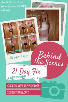 I was chosen to try out Beachbody's new workout The 21 Day Fix by Autumn Calabrese with 12 other Beachbody coaches!! I can't share EVERYTHING, but I have my before & after's and details on how to get it first on my behind the scenes blog post!