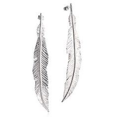 £131.00 A pair of bohemian feather drop earrings - choose from recycled silver or gold plated