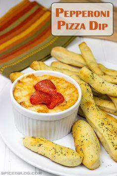 Pepperoni Pizza Dip | Spicedblog.com