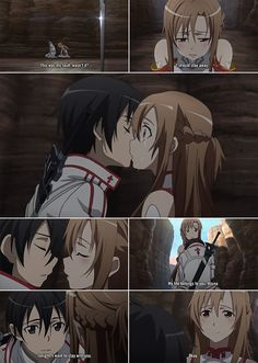 One of the best love stories ever told and the word wasn't said once. (Except when Kirito was asleep) <3 Asuna!