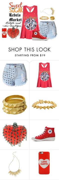 """I'm Hot sticky sweet, from my head to my feet - Rebels Market ~ 7"" by style-and-chic-boutique ❤ liked on Polyvore featuring Luv Aj, Eddie Borgo, Converse, ABS by Allen Schwartz, Marc Jacobs and rebelsmarket"