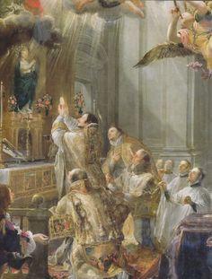 Juan Carreño de Miranda - The Mass of Saint John Matha; Catholic Doctrine, Catholic Mass, Catholic Priest, Catholic Saints, Roman Catholic, Catholic Bible, Christianity, Philippe De Champaigne, Latin Wedding