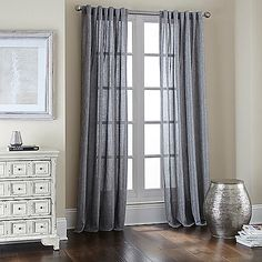 Valor Rod Pocket/Back Tab Window Curtain Panel
