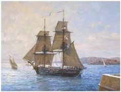 HMS Sophie from Master and Commander. (loosely based on HMS Speedy, but only similar in spar length and armaments) Sloop Of War, Majesty Of The Sea, Patrick O'brian, Master And Commander, Song Of The Sea, Ship Of The Line, Man Of War, Naval History, Nautical Art