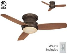 """minka-aire f593-orb tradition concept ceiling fan only 10.75"""" height"""