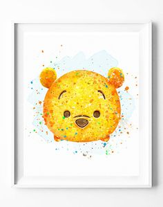 Disney Print Winnie the Pooh Print Tsum by DigitalPrintCharlie
